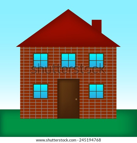 Vector illustration of detailed house icon