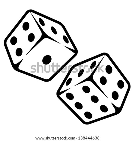 Vector illustration of dices - stock vector