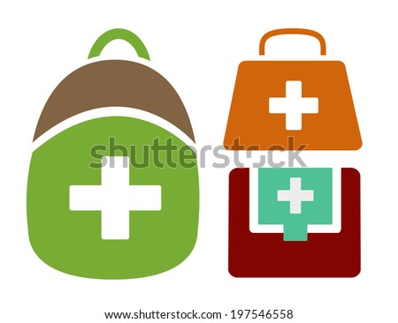 Vector Illustration of Different Styled Medical Bags
