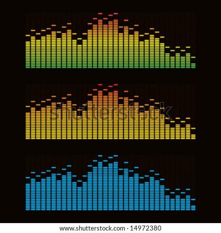 Vector illustration of digital equalizer - stock vector