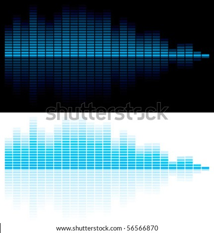 Vector illustration of digital equalizer - stock vector