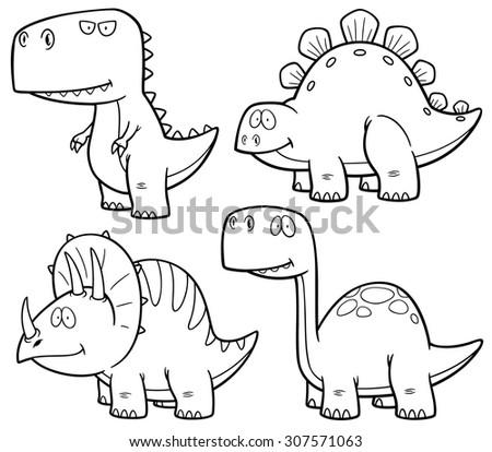 Dino Cartoon Drawing