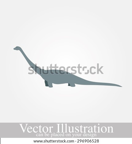 Vector illustration of Dinosaurs on the background