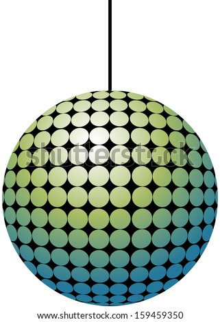 Vector illustration of disco ball - stock vector