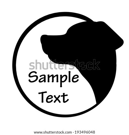 Vector illustration of dog icon - stock vector