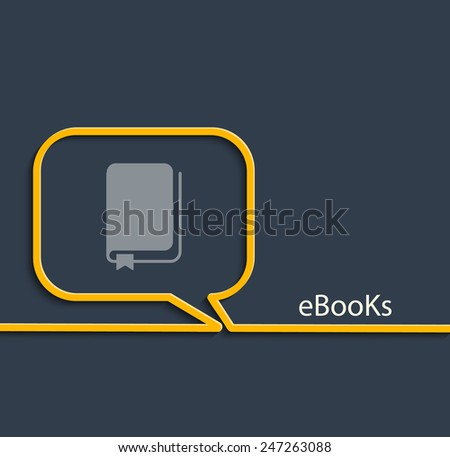 Vector Illustration of Download ebook, with book icon. - stock vector