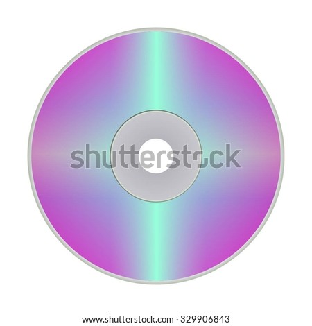 Vector illustration of DVD disk on a white background.