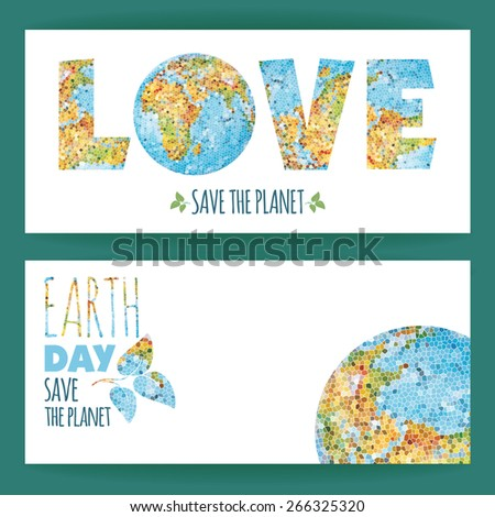 Vector illustration of Earth Day. Design element. - stock vector