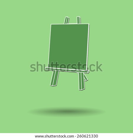 Vector illustration of  Easel painting color background.