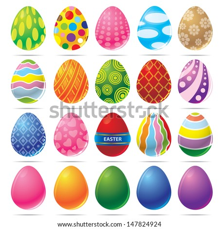 vector illustration of easter egg - stock vector