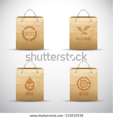 Vector illustration of eco-bags. - stock vector