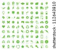 Vector illustration of eco icons. - stock photo