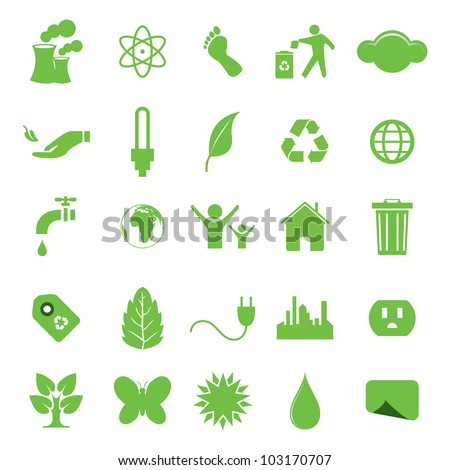 Vector illustration of ecologic icons.