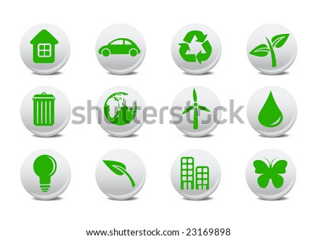 Vector illustration of ecological icons .You can use it for your website, application or presentation