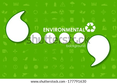 vector illustration of Ecological Template