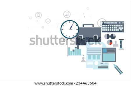 Vector illustration of economical analytics with graphic icopns - stock vector