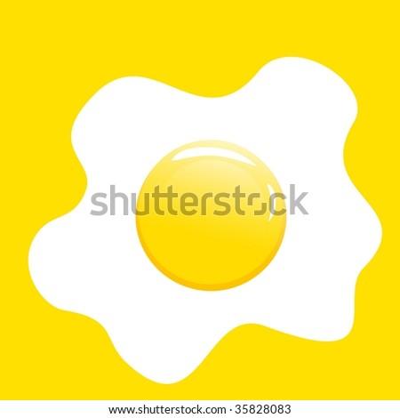 vector illustration of egg - stock vector