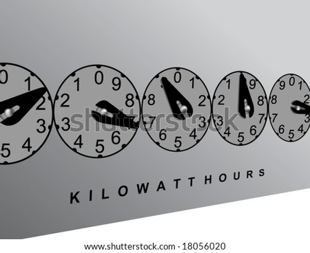 Vector illustration of electrical meter - stock vector