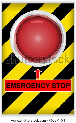Vector illustration of emergency stop button