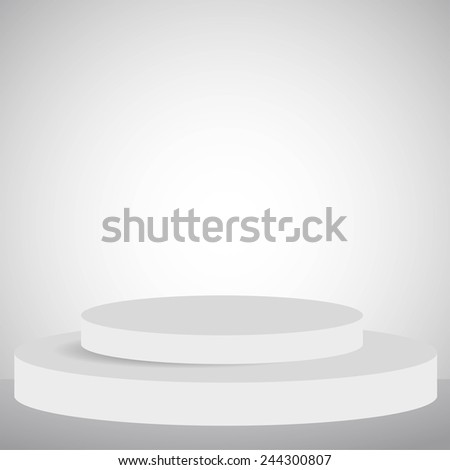 Vector illustration of empty podium for your design