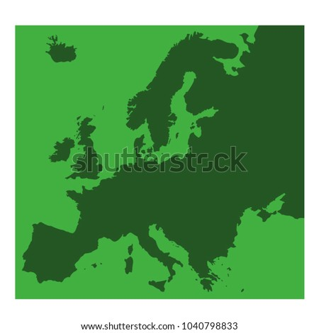 vector illustration of Europe map