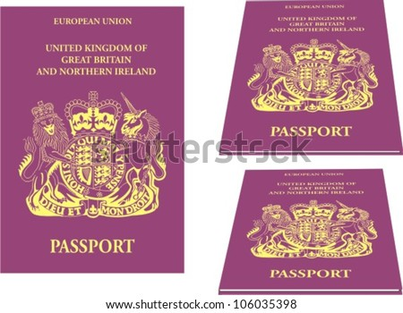 Vector illustration of European Union passport - stock vector