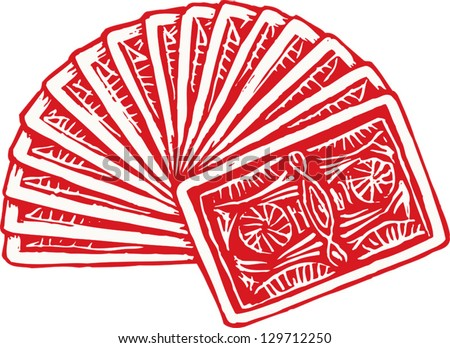 vector illustration fanned deck playing cards stock vector 129712250 rh shutterstock com deck of cards clip art free playing cards clipart