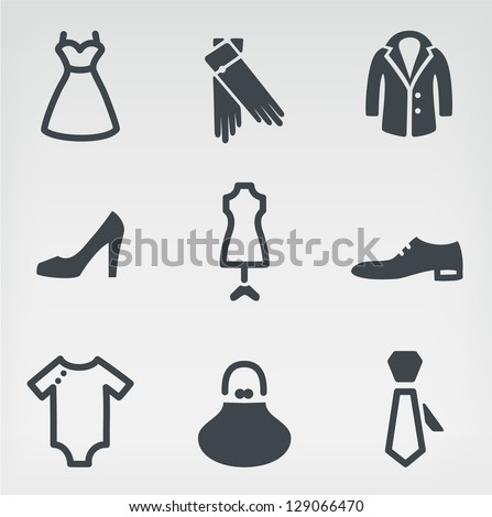 Vector illustration of fashion - stock vector