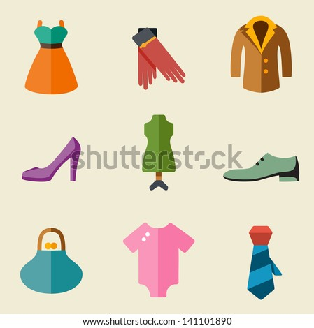 Vector illustration of fashion color on light background - stock vector