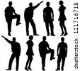 Vector illustration of fashion people silhouette. Isolated on white. - stock vector