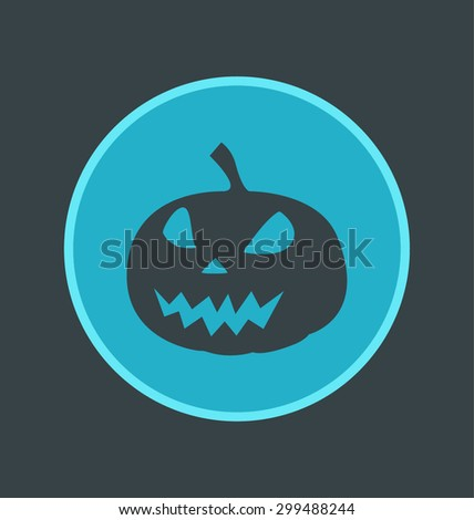 Vector illustration of fear icon, flat round icon