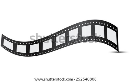 Vector illustration of film  - stock vector