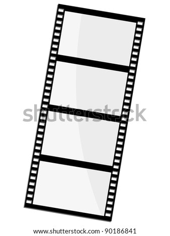 Vector illustration of film frame - stock vector