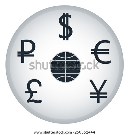 Vector illustration of finance and business icons - stock vector