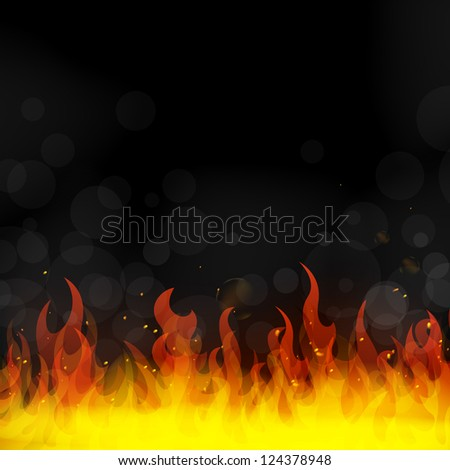 Vector Illustration of Fire - stock vector