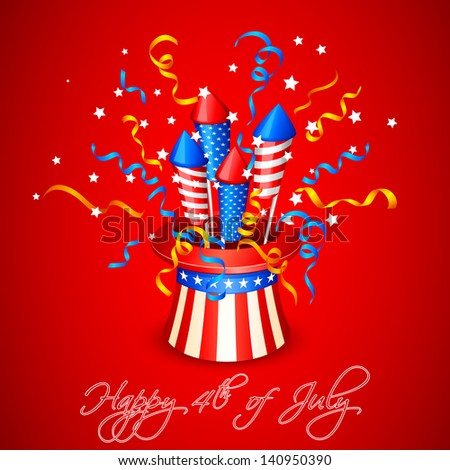vector illustration of Firecracker from American Flag - stock vector