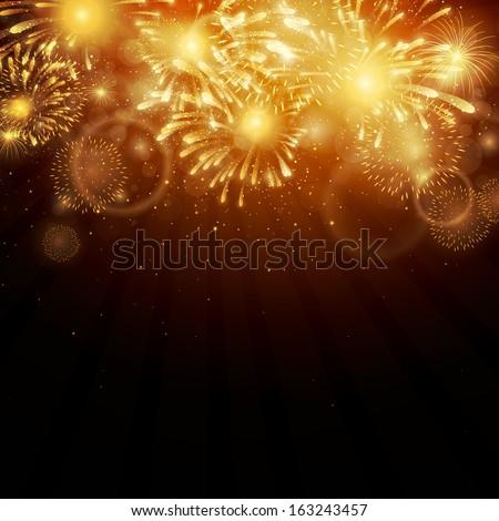 Vector Illustration of Fireworks