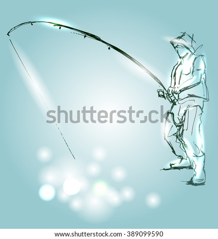 Vector illustration of fishermen