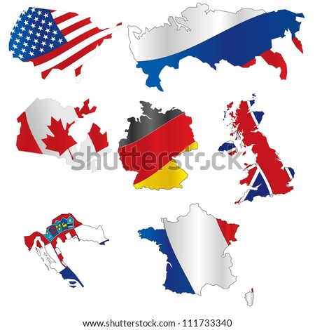 vector illustration of  flags - stock vector
