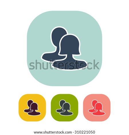 Vector illustration of flat community icon . Can be used as company logo, badge, web interface and mobile application button, pictogram - stock vector