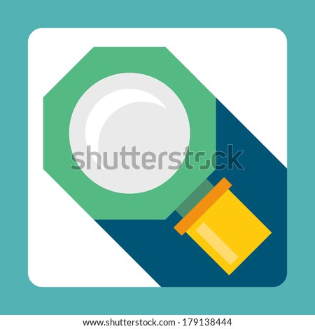Vector illustration of flat icon glass - stock vector
