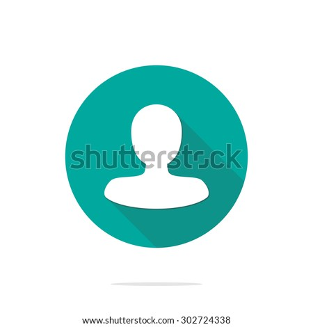 Vector illustration of flat user action and web interface icon.  Could be used as menu button, user interface element template, badge, sign, symbol, company logo - stock vector