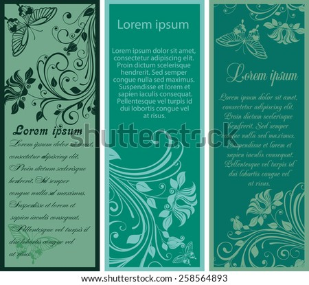 Vector Illustration of floral banners