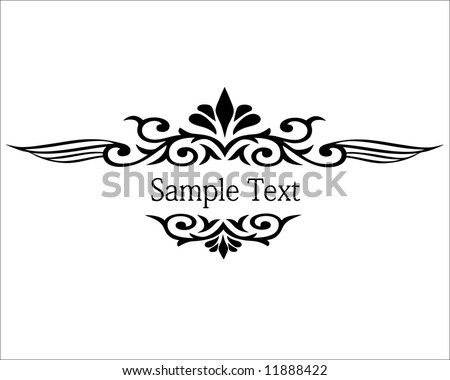 vector illustration of floral border frame - stock vector