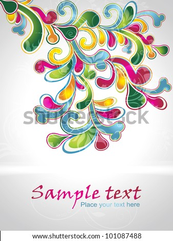 vector illustration of floral element