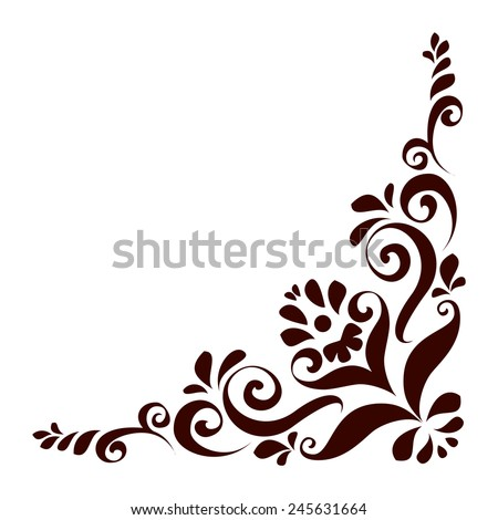 Vector illustration of floral ornament for design - stock vector