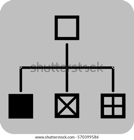 Vector Illustration Flow Chart Icon Stock Vector 570399586