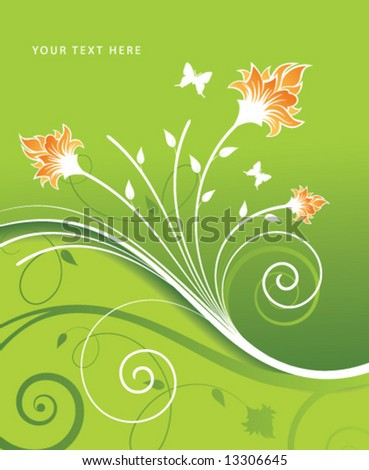 vector illustration of flower composition