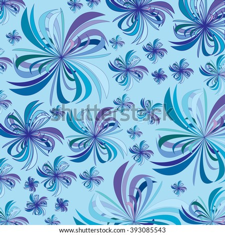 Vector illustration of flowers on colored background