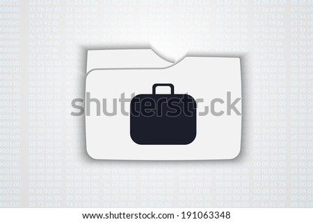 Vector illustration of folder with bag - stock vector